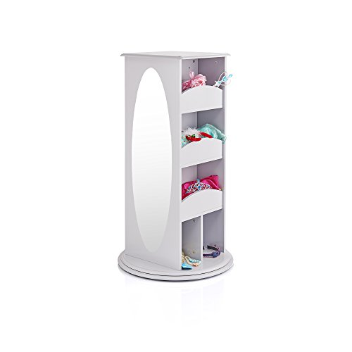Guidecraft Rotating Dress Up Storage Center Grey - Armoire, Dresser Kids' Furniture by Guidecraft