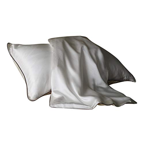 Dartphew Silk Satin Pillowcase, Silky Pillow Cases for Hair and Skin, Hypoallergenic Anti-Wrinkle Beauty, Super Soft and Luxury Pillow Cases Covers with Envelope Closure - 48cmx74cm