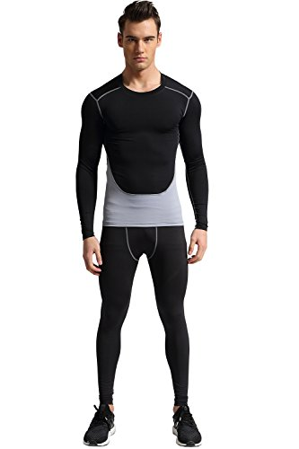 1Bests Men's Atheletic Sports Fitness Sets Running Basketball Gym Training Quick drying Breathable Suits