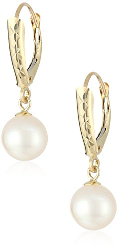 14k-yellow-gold-7-75mm-round-white-freshwater-cultured-pearl-design-lever-back-dangle-earrings