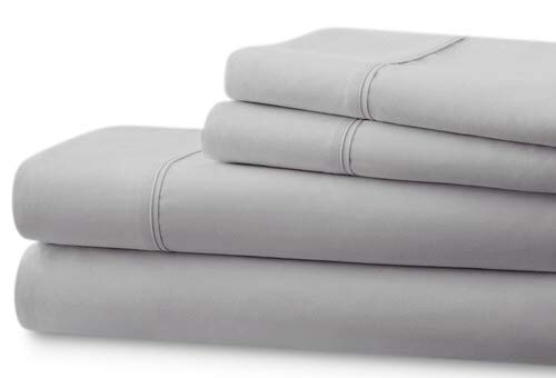 Better Homes & Gardens Organic 300 Thread Count Sheet Set (Soft Silver, King) from BHG