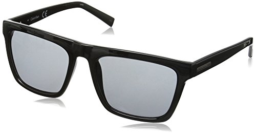Calvin Klein Men's R737S Square Sunglasses, Black, 57 - Klein Men Sunglasses Calvin