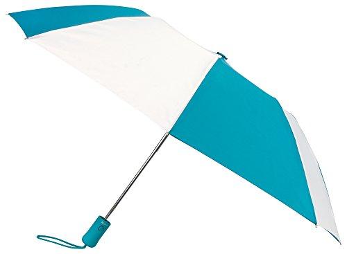 teal-white-compact-windproof-auto-open-umbrella-sleeve-with-warranty