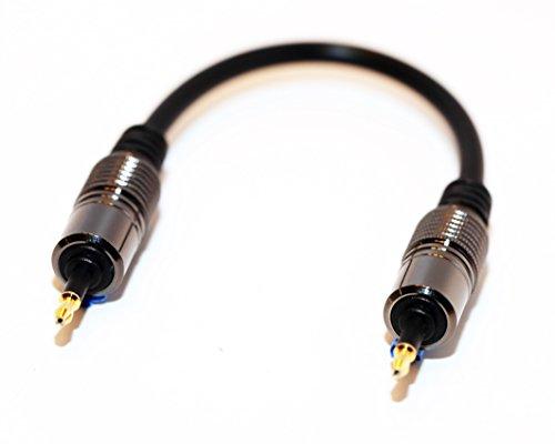 Extreme Audio Premium Quality Gold Plated Mini Toslink to Mini Toslink (SPDIF) Digital Optical Audio Cable with Metal Connectors for Astell&Kern AK100 AK120 AK100II AK120II AK240 AK380 AK320