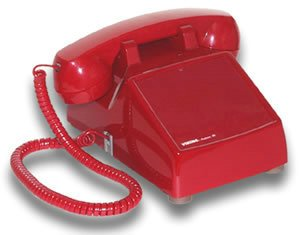 Red Hot Line Wall Phone - Hot Line Desk Phone Red Wall Desk Telephone Built-In Tone Pulse Dialer by Viking