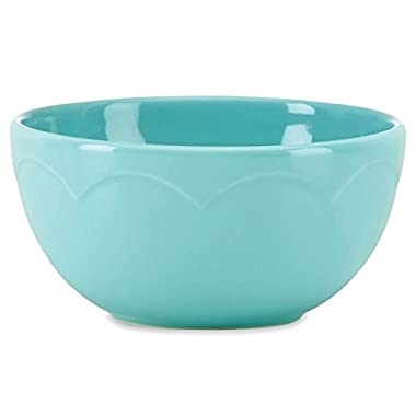 Kate Spade All In Good Taste Turquoise Sculpted Scallop Fruit Bowl