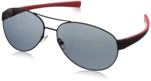 Tag Heuer Lrs25611062 Aviator Sunglasses - Matt Black & B...