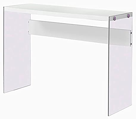 Terrific Amazon Com Glossy White Console Table Edgy Rectangular Pabps2019 Chair Design Images Pabps2019Com