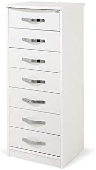 Mobile in legno cassettiera con 7 cassetti colore bianco frassinato