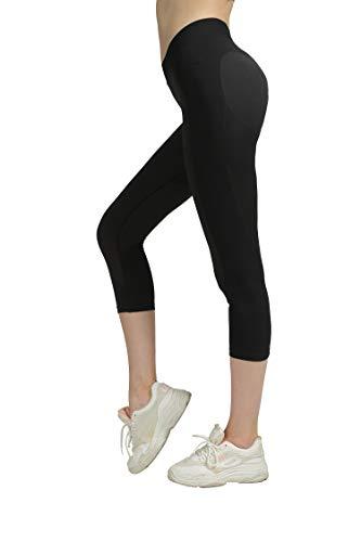 SEKERMAET Workout Capris Leggings Yoga Pants for Women, Seamless Mid-Waist Gym Athletic Tights