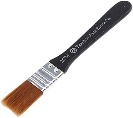 Hellery 刷毛 塗装 アクリルブラシ ホビー用筆 画材筆 ペイント ブラシ 筆 軽量 脱毛しにくい 全7サイズ - 2cm幅