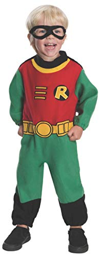 Rubie's Baby Boy's Teen Titans Robin Romper Costume, Multi, 12-24 Months for $<!--$5.99-->