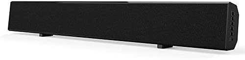 Sound Bars for TV Wired and Wireless Bluetooth SoundBar with 2.0 Channel Stereo Surround Sound for TV PC Smartphone Wall-mountable