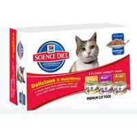 Hill's Science Diet Senior Gourmet Variety Pack Canned Cat Food, My Pet Supplies