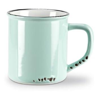 amazon com set 6 pieces 4 green stoneware enamel look vintage