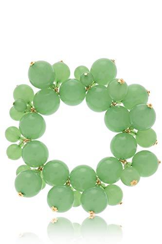 Kenneth Jay Lane HONEYGOLD Jade Pearls Bracelet