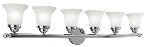Livex Lighting 1066-05 Neptune 6-Light Bath Light, Chrome - Chrome 5 Light Vanity