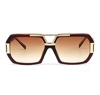 FANDIA Retro high quality Metal Frame Brown gradient Sunglasses