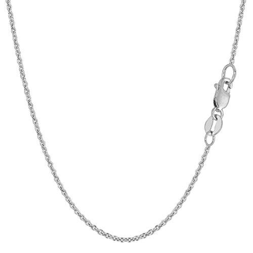 (14k White Gold Forsantina Chain Necklace, 1.5mm, 20