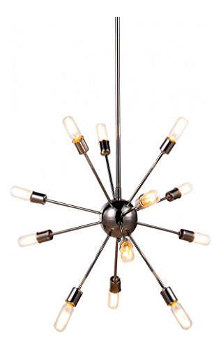Polished Nickel Cork 30in. Wide 12 Light Chandelier from the Urban Classics Collection ()