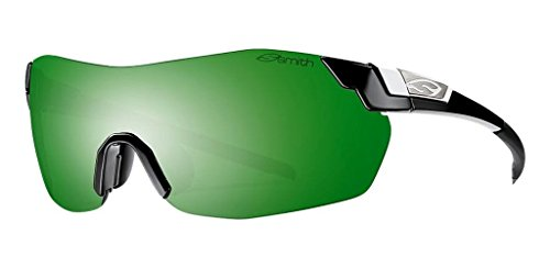 Smith Optics Pivlock V2 Max Sunglass with Green Sol-X, Ignitor, Clear Carbonic TLT Lenses, - Smith V2 Pivlock Sunglasses Max