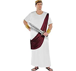 AMSCAN Augustus Caesar Halloween Costume for Men, Plus Size, with Included Accessories