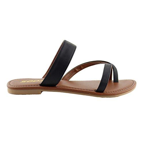 Pictures of SODA Shoes Women Flip Flops Flat Summer Deputy 2