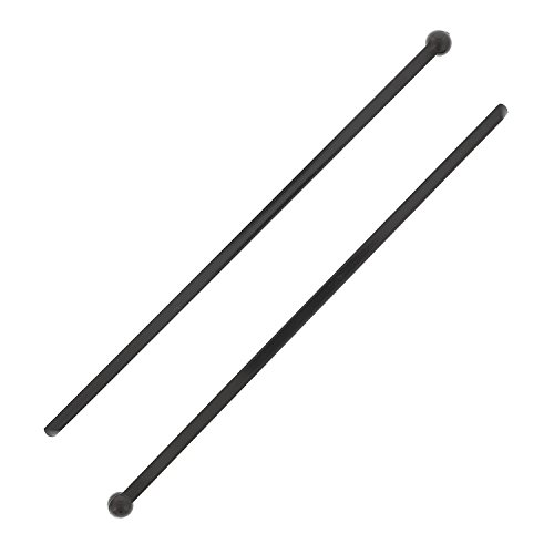 Royal 6'' Black Plastic Ball End Stirrer, Case of 2500 by Royal