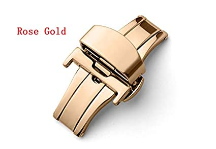 Mink Monk Automatic Double Push Button Butterfly Deployment Clasp Watch Strap Stainless Steel Solid Fold Watch