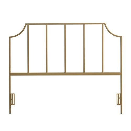 Sauder 421432 International Lux Queen Headboard, Metallic Gold Finish