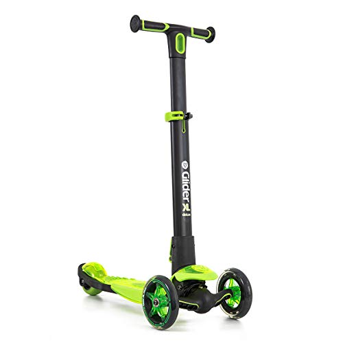 Yvolution Y Glider XL Deluxe | 3 Wheel Folding Scooter for Kids Age 5-12 Years with Safety - Micro Flyer