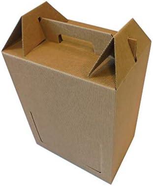 IMBALLAGGI ALIMENTARI Embalar Alimentos Unidades 10 Caja Porta Botella (6 Botellas de 0,75 y 1 litro) Caja de cartón Ondulado Estuche con Mango de Papel Box for Bottles: Amazon.es: Hogar