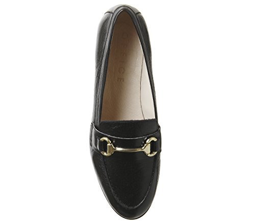 Office Loafers Leather Fluster Groucho Black r7zr4Ow