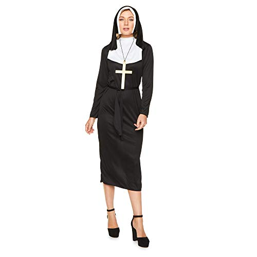 Women's Sexy Nun Costume, for Halloween Party Accessory,