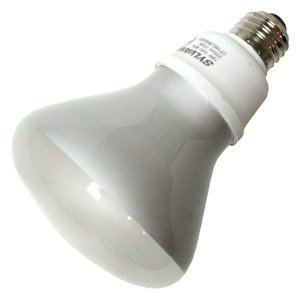 Sylvania 26937 - CF16EL/BR30/LS/827/BL Flood Screw Base Compact Fluorescent Light Bulb Flood Screw Base Compact