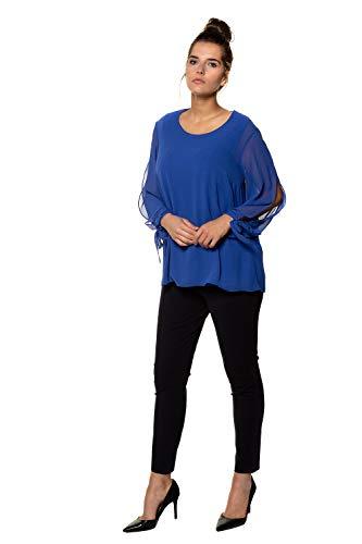 Popken Grandes Tailles Femme Blouse Indigo 717455 Ulla Clair aqBZfxq
