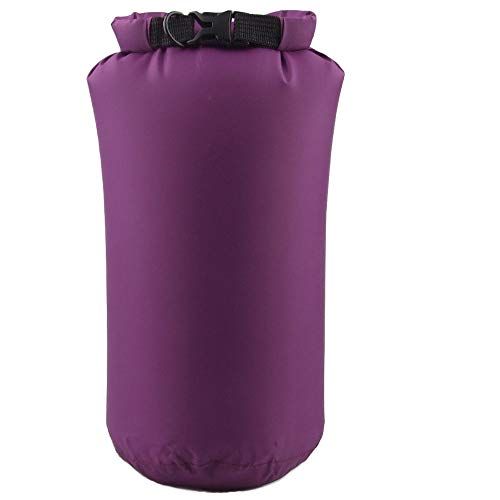Dry Sack Bag, Sacow Outdoor 8L Protable Waterproof Nylon Bag Storage Dry Pouch for Outdoor Travel Hiking Canoe Kayak Rafting Camping (Purple)