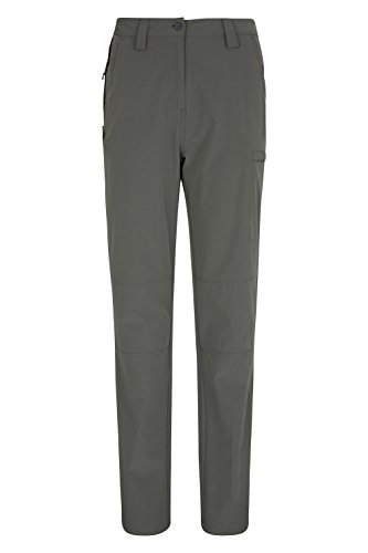 Mountain Warehouse Trek Stretch Womens Trousers - Ladies Summer Pants Dark Grey 6