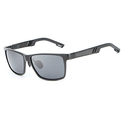 Oculos Shades Alta Gray de de Gafas y Sol Conduce polarizada para MY Black Blue gray con Ciclismo Que Calidad Marco Resistencia Pesca de Color aleación Hombre RBqHwFA