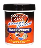 Omega One Freeze Dried Blood Worms 0.46oz.