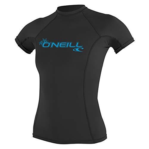 O'Neill Wetsuits Damen Uv Schutz wms basic skins S/S crew Rash Vest, Schwarz, XS