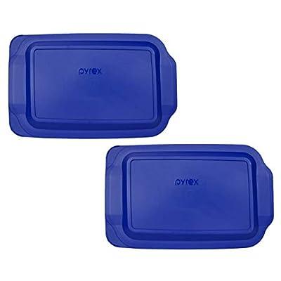 "(2) Pyrex 233-PC 3 Quart Blue 9"" x 13"" Baking Dish Lids - Will NOT Fit Easy Grab Baking Dish"