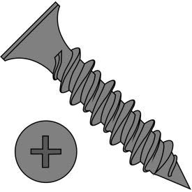 #8 x 1-1/2 Phillips Bugle Head Hi Low Drywall Screw Black - Pkg of 4000 (0824HPG)