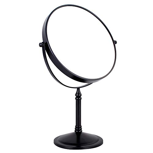NiceVue 10x Magnifying Makeup Mirror Double-Side Freestanding Tabletop Swivel Cosmetic Mirror Table Desktop Vanity Mirror with 8 Inch Oil Rubbed Bronze