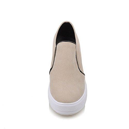 Beige Ladies Pumps Inside Solid BalaMasa Frosted Heighten Shoes 7qnAxwZw