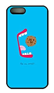 Blue Simple-Lovely-Hungribles - iPhone 5 5S Case Funny Lovely Best Cool Customize PC iPhone 5 Cover Black