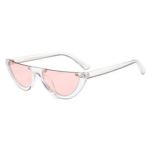 Hombre Burenqi Flat de Claro de Marca Mujeres Gafas de Top para Moda Diseñador C Mujer Pequeño anteojos Bastidor Gato Sol de UN Medio de Ojo Gafas Sol Prrfx