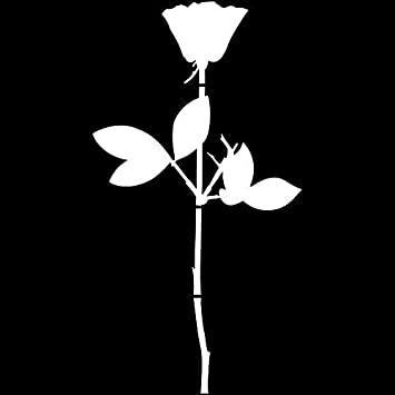 Greenit Rose Aufkleber Tattoo Die Cut Car Decal Auto Fenster Tür Schaufenster Deko Folie Enjoy The Silence Depeche Mode Weiß 50cm Auto