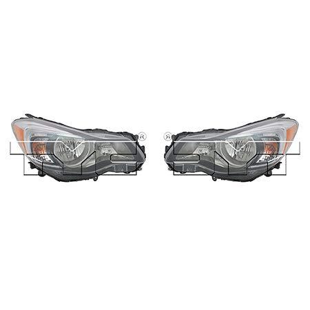 CarLights360: Fits 2012 2013 2014 2015 Subaru Impreza Headlight Assembly Driver and Passenger Side NSF Certified w/Bulbs Halogen Type - Replaces SU2502140 SU2503140