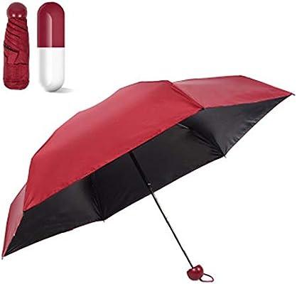 JUNDY Paraguas Plegable a Prueba de Viento de la protección Solar de la Moda Paraguas Sombrilla protección Solar Mini 50% cápsula Paraguas colour4 ...
